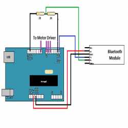 Android Phone Controlled Robot Circuit Diagram 2 | Arduino