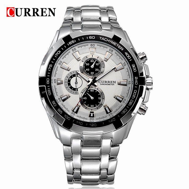 CURREN Military Men Watches Stainless Steel Quartz Wristwatch (without Regulator Tool)