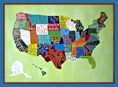 Modern Mountain Momma Homemade Map Of The United States