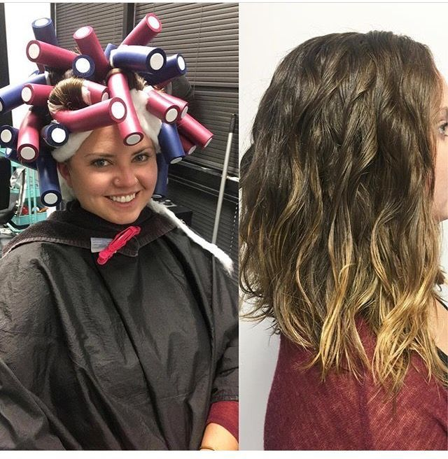 Beach Wave Perm Before And After Permanente Cheveux