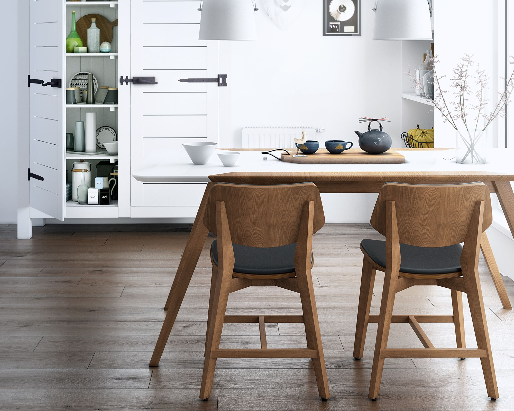 Modern Materials Like Eco Leather And Stain Resistant Powder Coating Offer A Unique Element To Scandinavian Furniture Design Dining Table Setting Dining Chairs