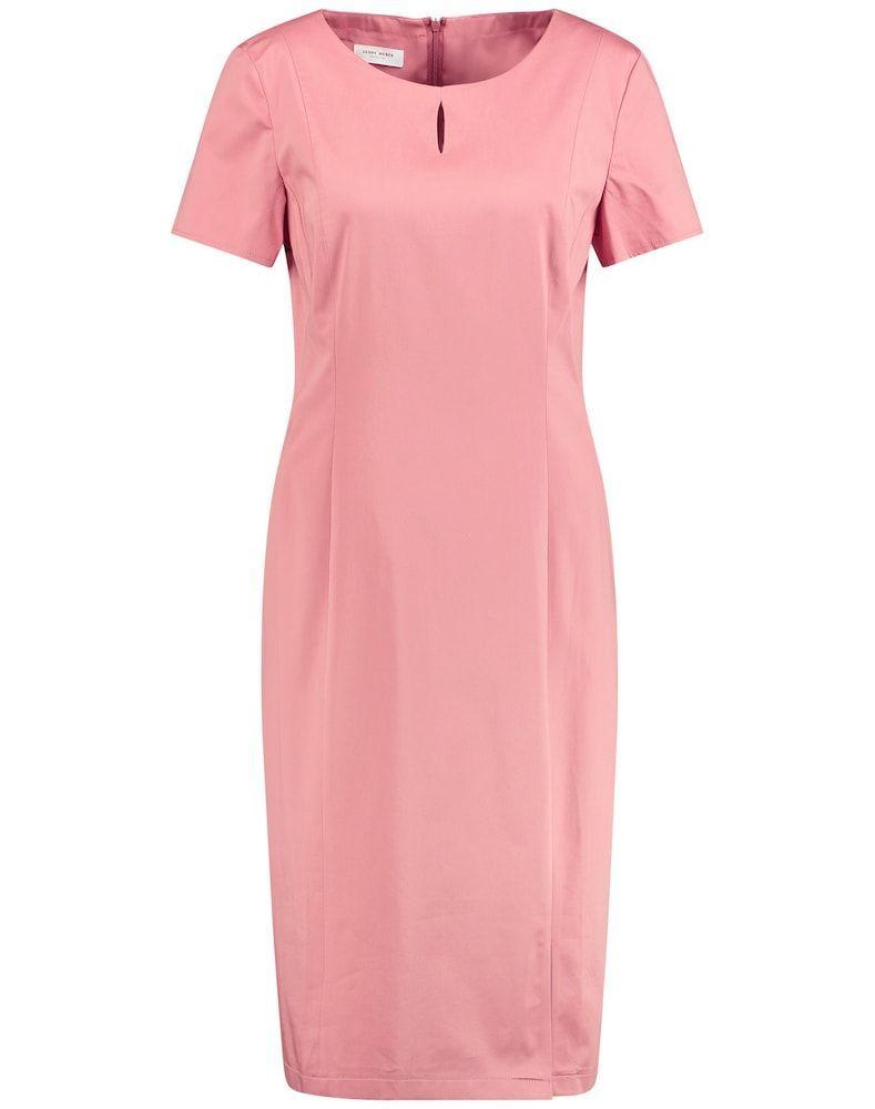 GERRY WEBER Kleid Gewebe Etuikleid aus stretchiger Baumwolle Damen