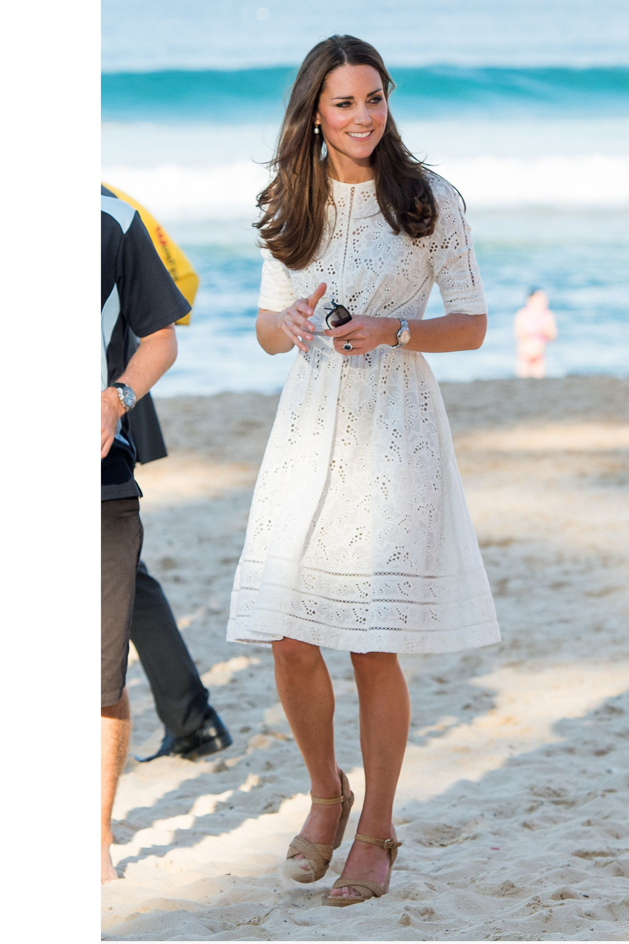 Kate middleton just wore her best maternity dressagain manly visiting manly beach in sydney australia in a zimmerman dress harpersbazaar kate middleton ombrellifo Gallery