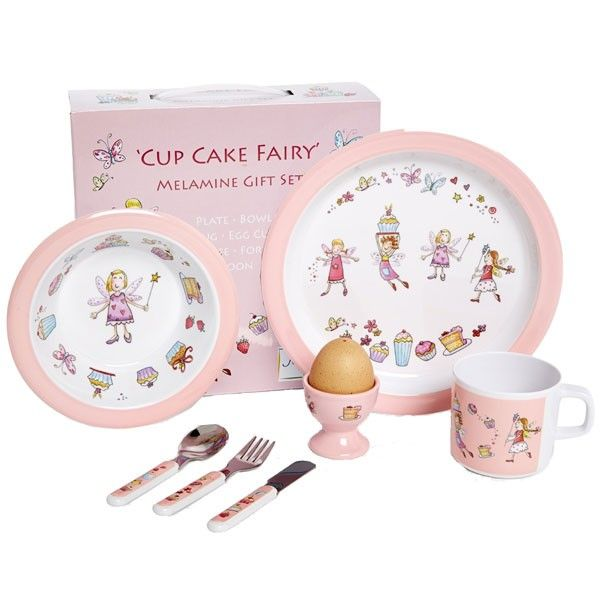 This Cute And Bright Cup Cake Fairy Children S Melamine Dinner Set From Martin Gulliver Will Encourage Any Little Girl To Eat Bringing The F Melamine Dinner Set