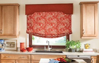 New Ideas For Kitchen Roman Blinds And Kitchen Curtains Designs What