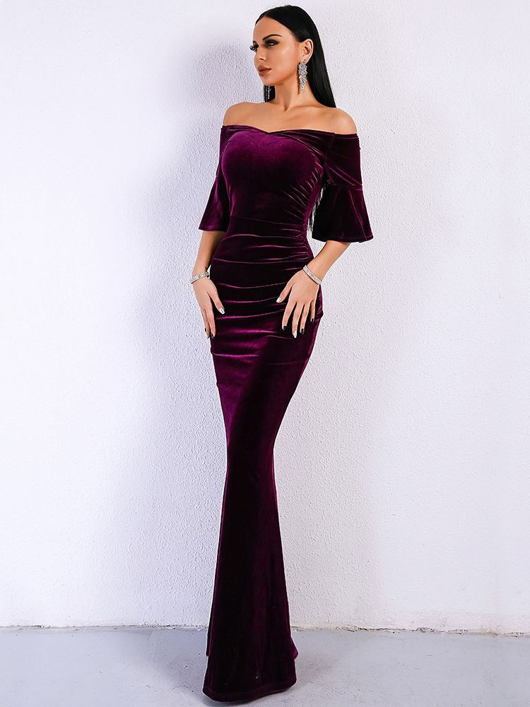 815648d1a54b Wholesale Boat Neck Fitted Ladies Evening Dresses EHA040206PR |  Wholesale7.net