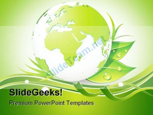 Green Earth Nature Powerpoint Background And Template