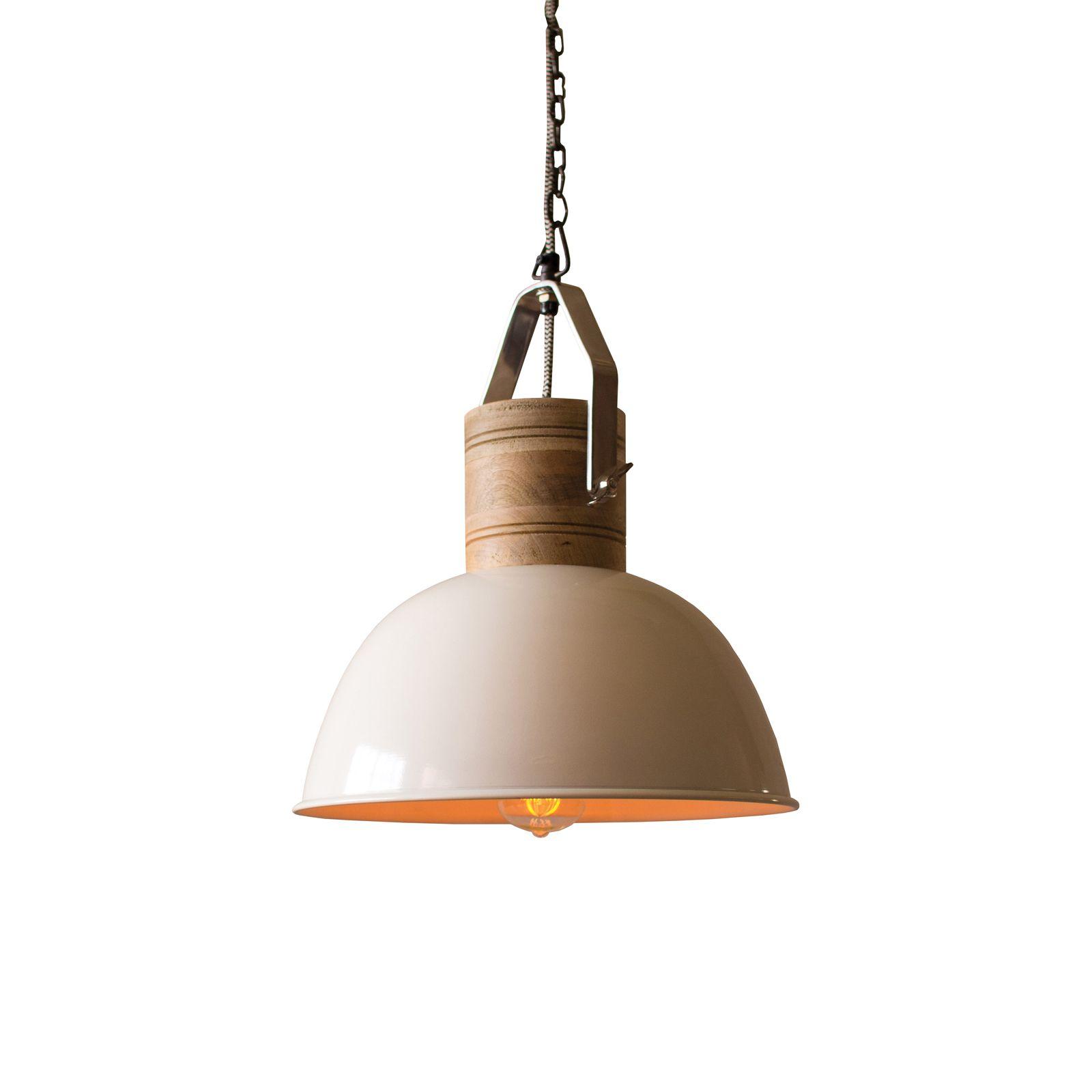 Enjoy a farmhouse-inspired dome enamel pendant light with elegant ...
