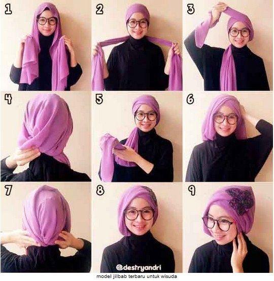 Tutorial Hijab Pashmina Simple Untuk Wisuda Hijabfest