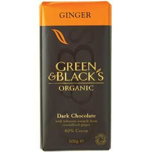 Black and green dark chocolate