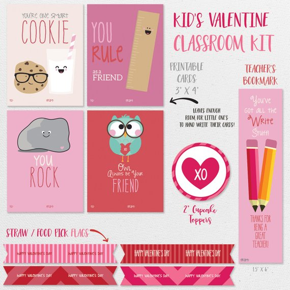 graphic about Printable Kid Valentine identify Little ones Clroom Valentines Playing cards - with Cupcake Flag/Topper