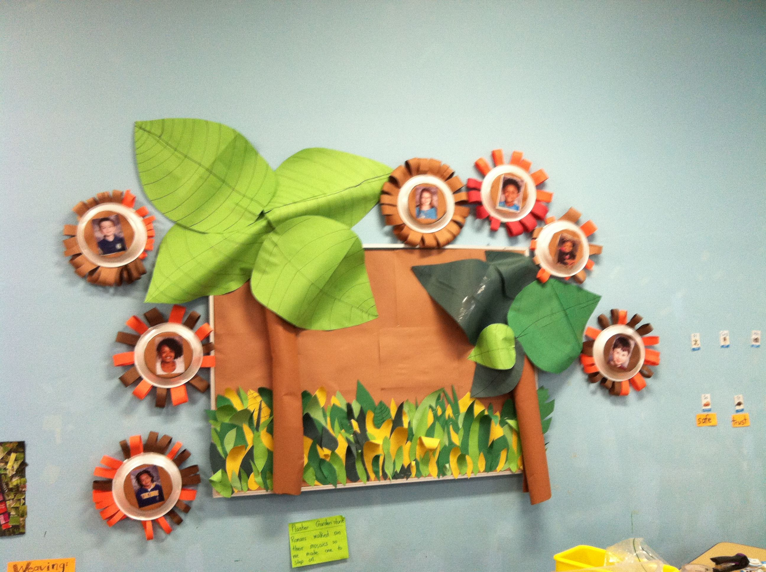 Jungle Bulletin Board For Classroom Leaves And Trees Made