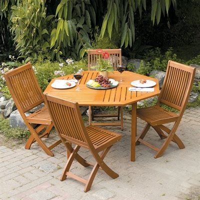 ACHLA Designs Octagonal Outdoor Dining Set