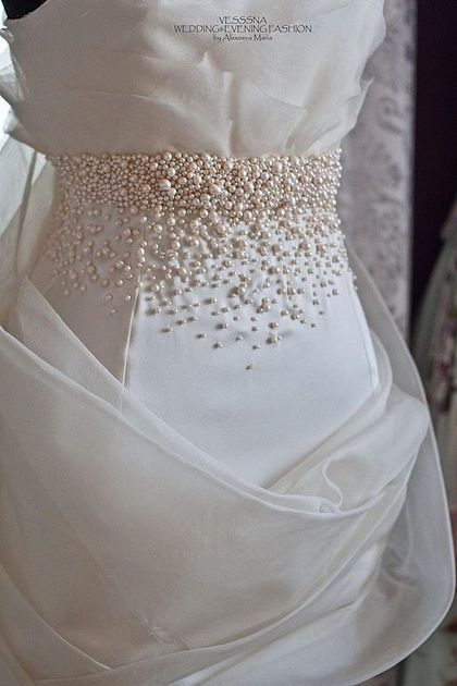 Photo of Wedding dress with pearls embroidery / Clothing and accessories …