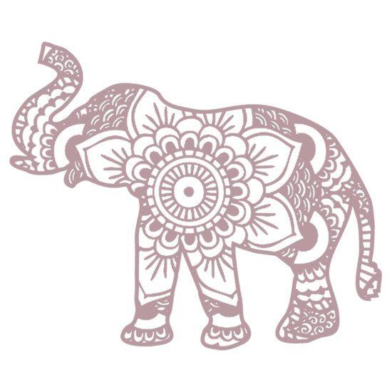 Mandala Elephant Lilac\' Sticker by laurauroraa | Elefanten ...