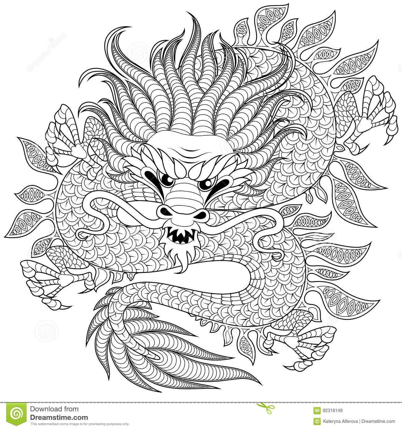 Pin de Hannelie Pienaar en Colouring Pages | Pinterest | Dragones ...