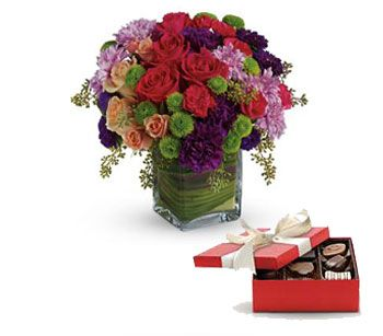 Flowers sent with Chocolates Delivery Included