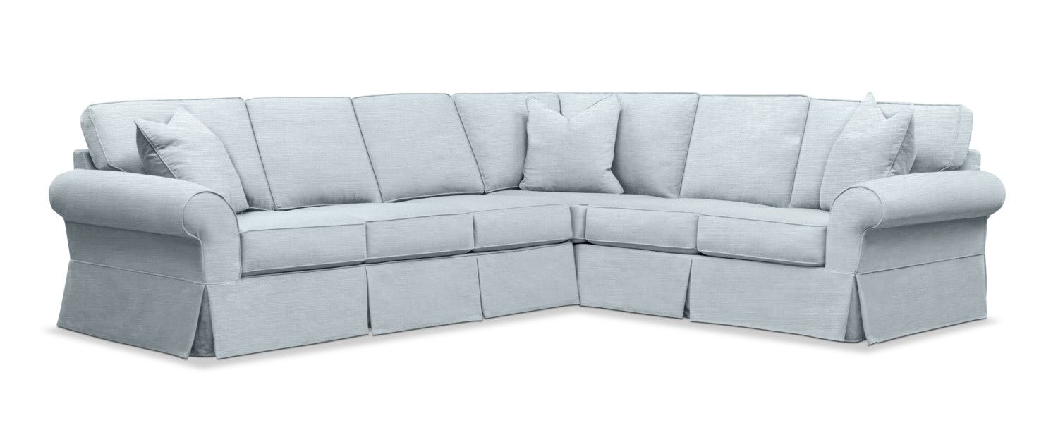 Cool Sawyer 2 Piece Slipcover Sectional With Left Facing Sofa Spiritservingveterans Wood Chair Design Ideas Spiritservingveteransorg