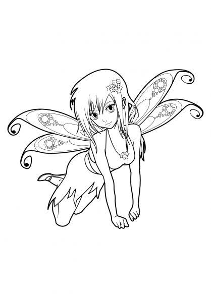 coloriage manga 18