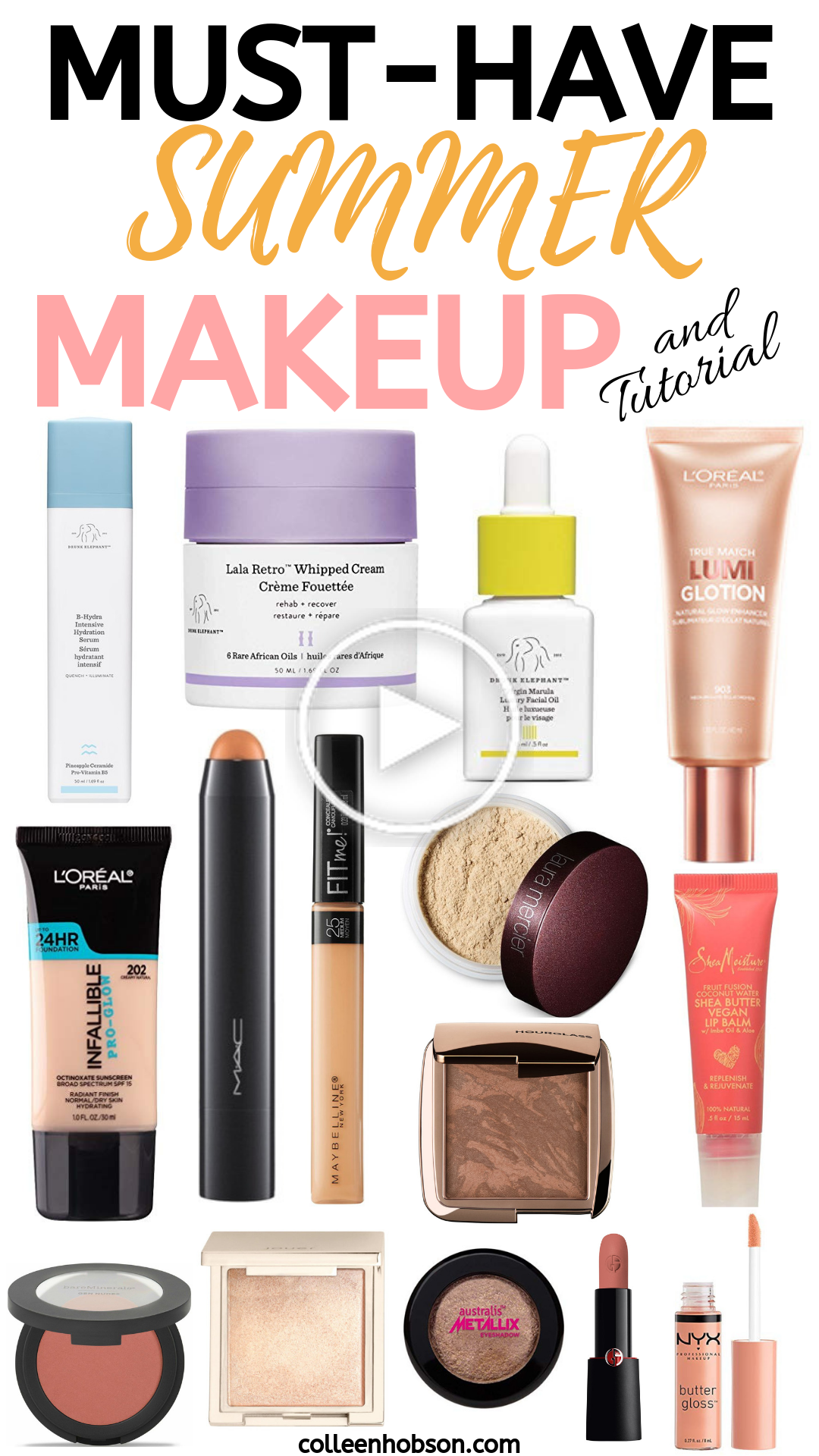 Summer Makeup Must Haves and Tutorial in 2020 Vacation