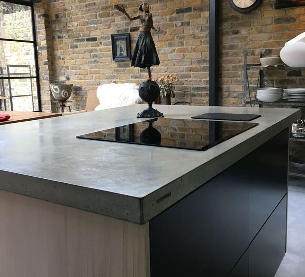 41 Charming Kitchen Concrete Countertop Ideas Concrete