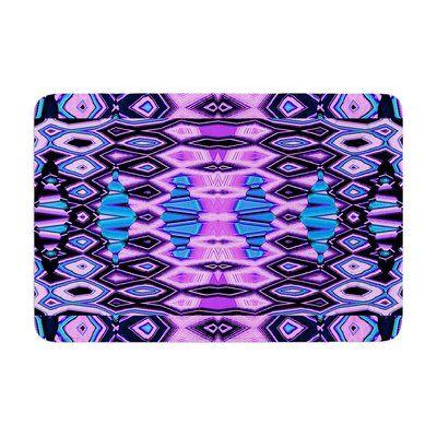East Urban Home Nina May Deztecca Lilac Memory Foam Bath Rug Color: Purple/Blue