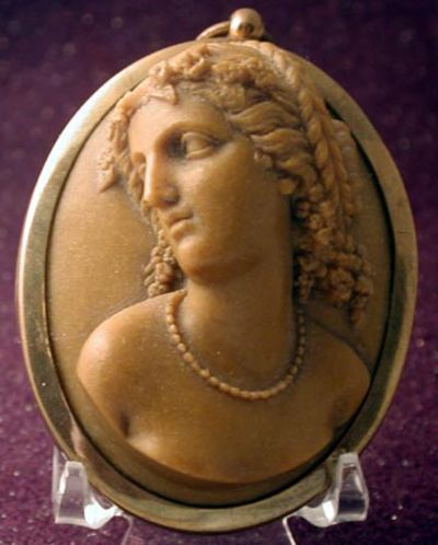 Lava cameo of Ceres c.1860