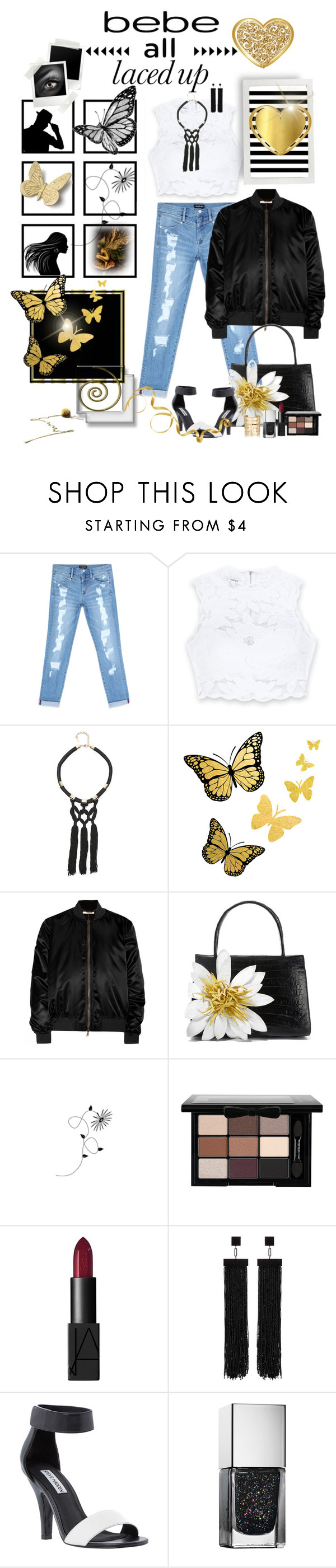 """All Laced Up for Spring with bebe: Contest Entry"" by ntina36 ❤ liked on Polyvore featuring Bebe, Givenchy, Nancy Gonzalez, NYX, NARS Cosmetics, Tom Ford, Steve Madden, Aurélie Bidermann and alllacedup"