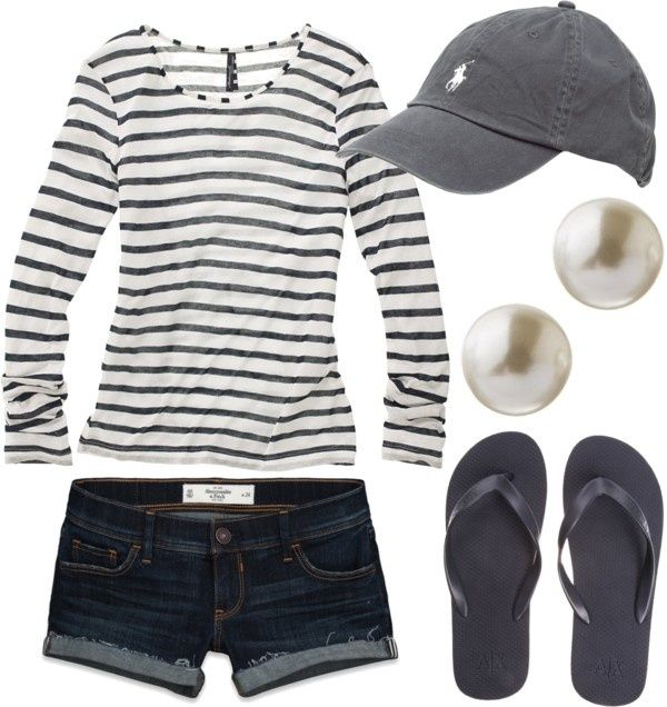 Baseball outfit for summer.