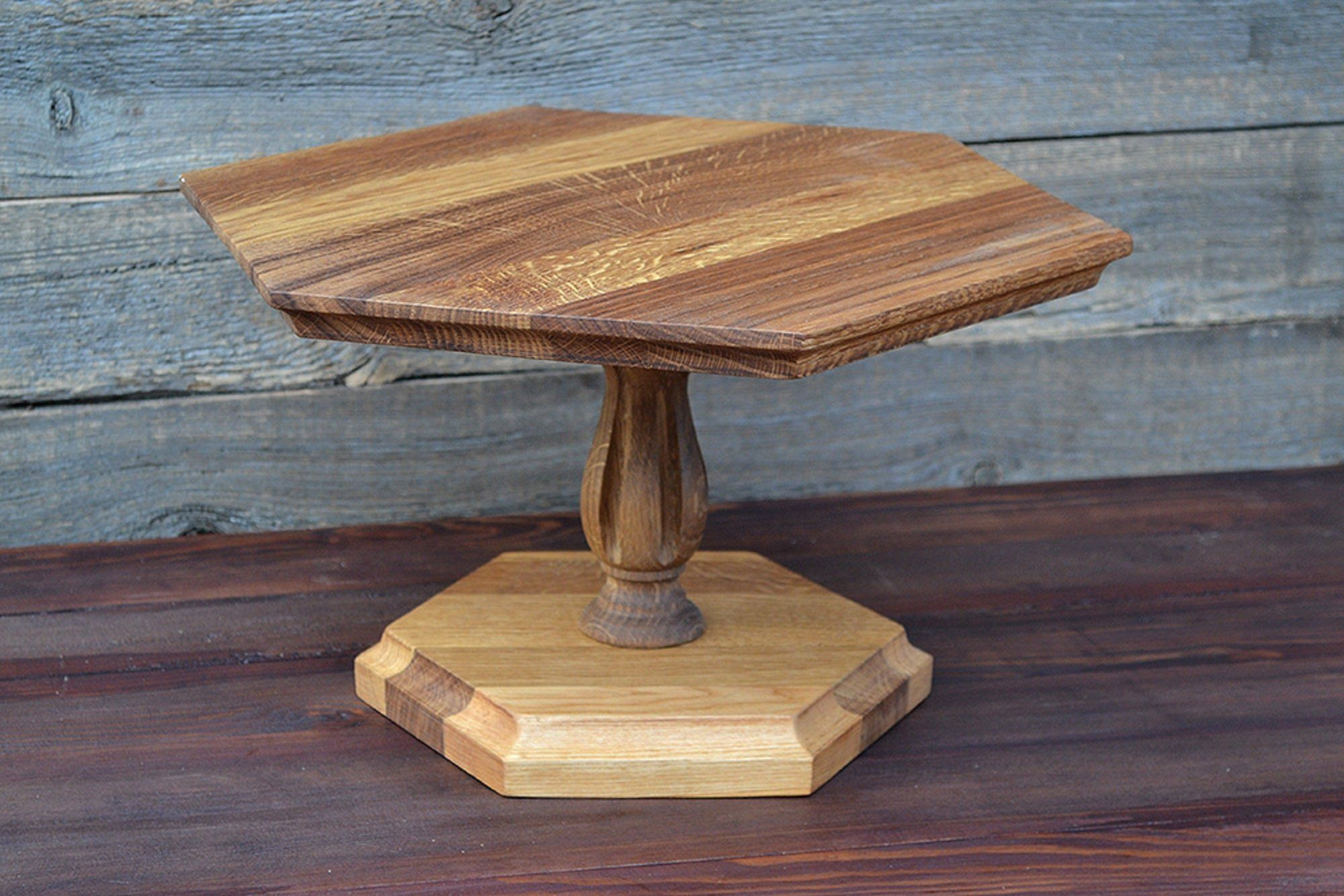 Ready To Ship 12 Inches Wooden Ice Cream Stand Ice Etsy In 2020 Wooden Cake Stands Hexagon Shelves Wooden