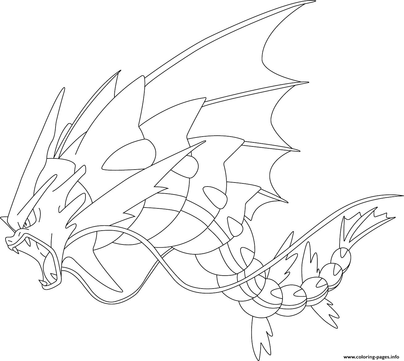 Coloring Pages Pokemon Mega Gyarados Pokemon Coloring Pages
