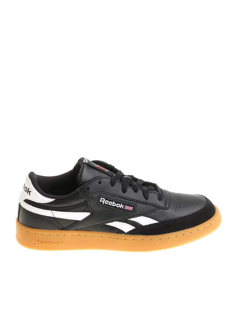 ba6ae5dfded REEBOK REEBOK MEN S BLACK LEATHER SNEAKERS.  reebok  shoes