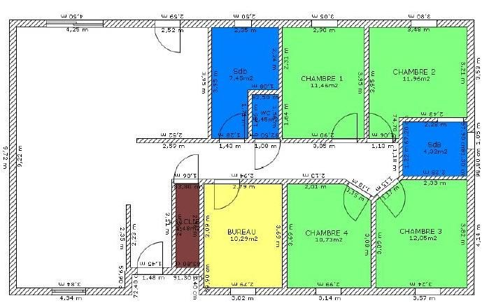 plan de maison 4 chambres plain pied Plans Pinterest Plain - plan de maison contemporaine gratuit
