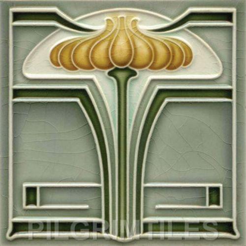 Superb Art Nouveau / Arts & Crafts Tiles / Plaque / Fireplace