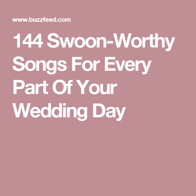 Instrumental Wedding Recessional Songs: 144 Swoon-Worthy Songs For Every Part Of Your Wedding Day