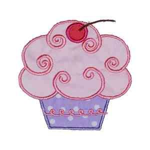 Machine Filled Embroidery cookie Cupcake