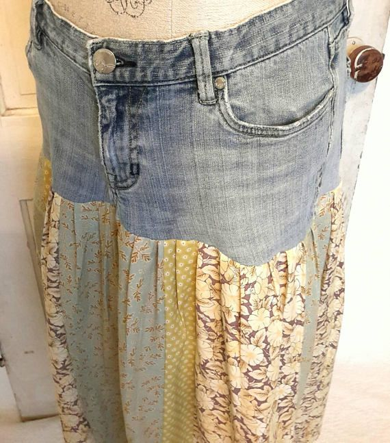 Jeans with flowers