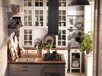 Ilot Central Carré Pour Petites Cuisines Cuisine Pinterest - Petite cuisine carree pour idees de deco de cuisine