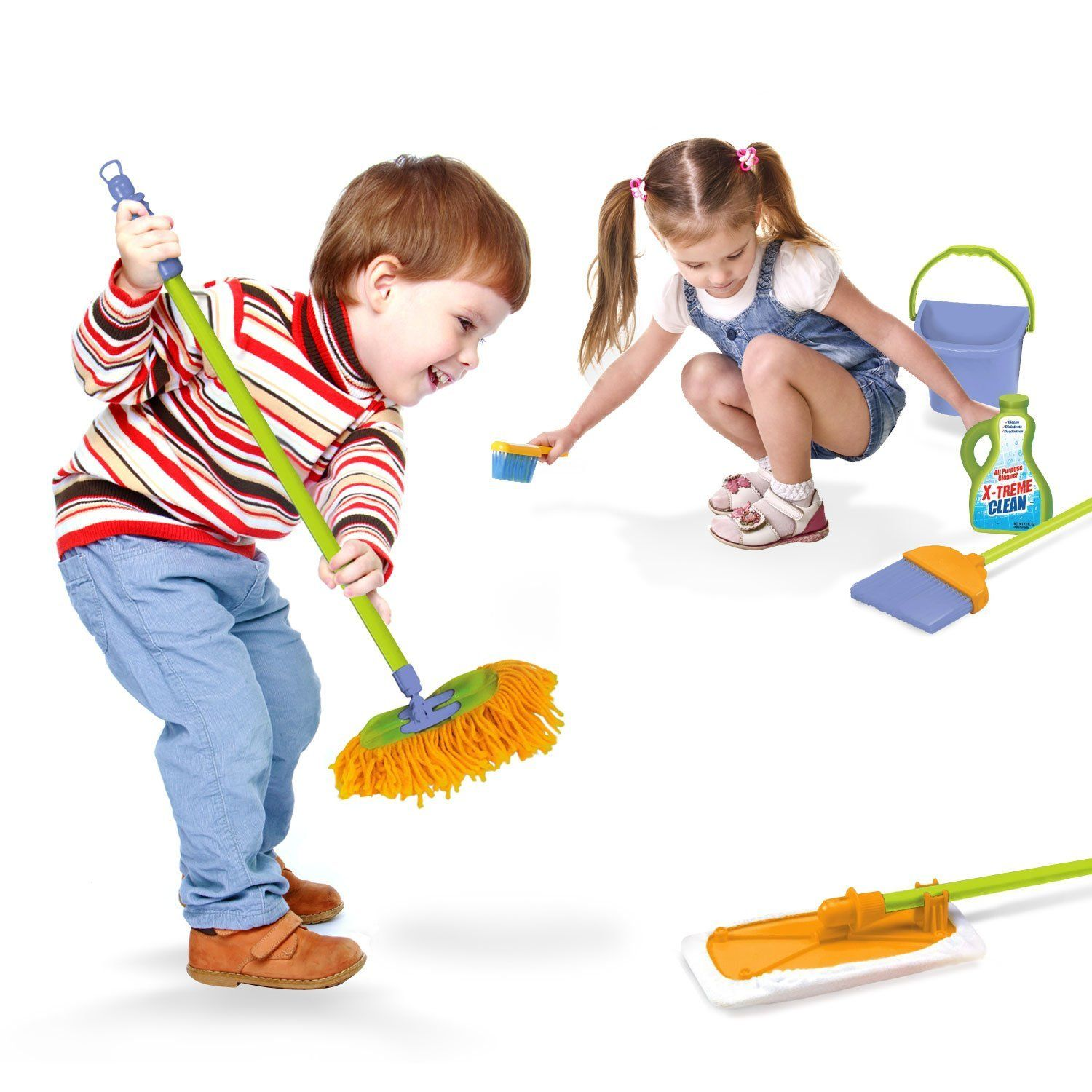Amazon Kidzlane Kids Cleaning Set for Toddlers Up to Age 4