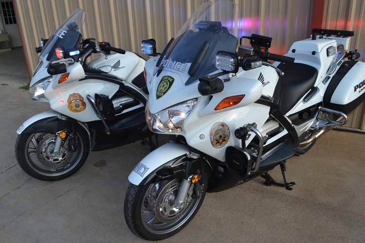 Honda Police Motorcycle For Live Oaks 2010 Model Is On The Left