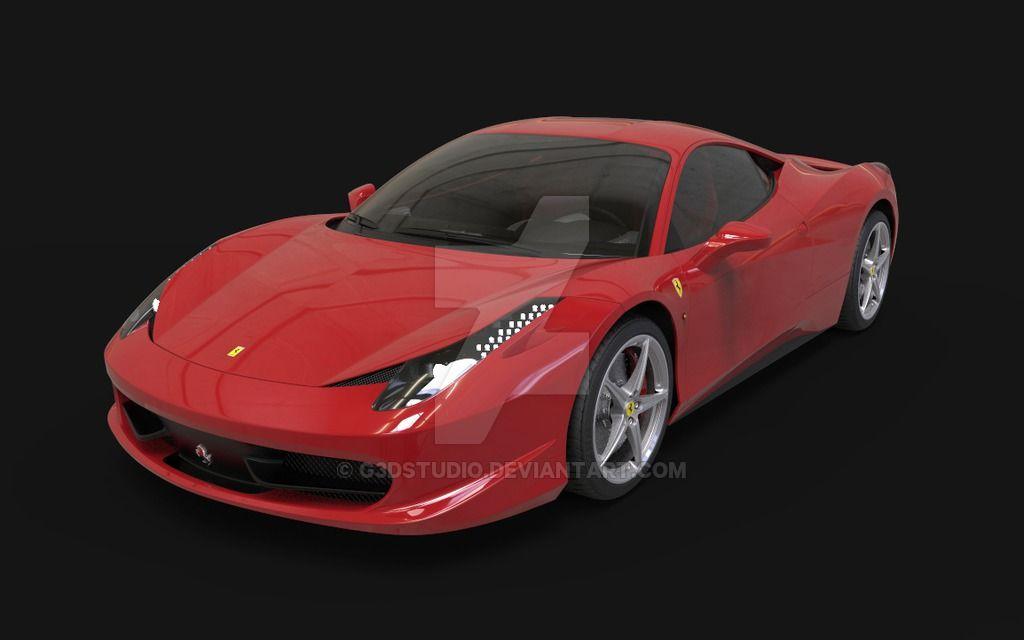 Ferrari 458 / 3D model www.ggbstudio.com
