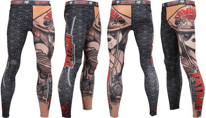 Tatami Samurai Panda Ladies BJJ Spats MMA Jiu Jitsu Womens Compression Leggings