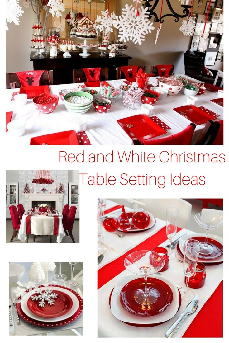 Red And White Christmas Table Setting Ideas Christmas Table
