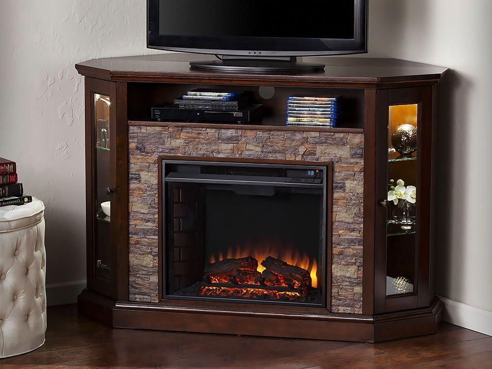 Redden Wall Corner Electric Fireplace Tv Stand In Espresso Fe9392 Theaterroo Electric Fireplace Tv Stand Corner Fireplace Tv Stand Corner Electric Fireplace