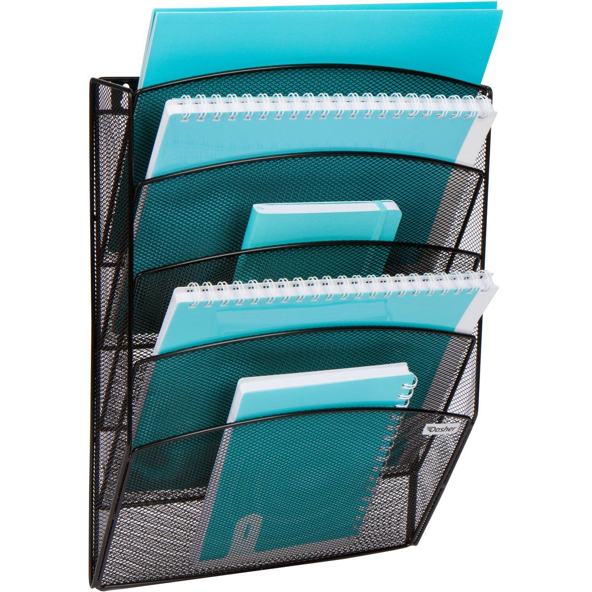 Mesh Wall Mounted Document and File Organizer 50 Tier Magazine Rack