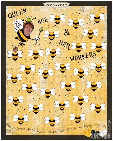 Classroom Ideas With Bees ~ Bee themed class poster for teacher appreciation week
