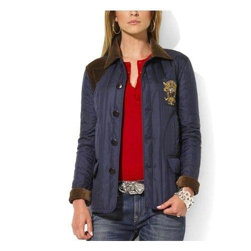Ralph Lauren Women S Quilted Jacket In Navy Quilted Jacket Womens Quilted Jacket Jackets