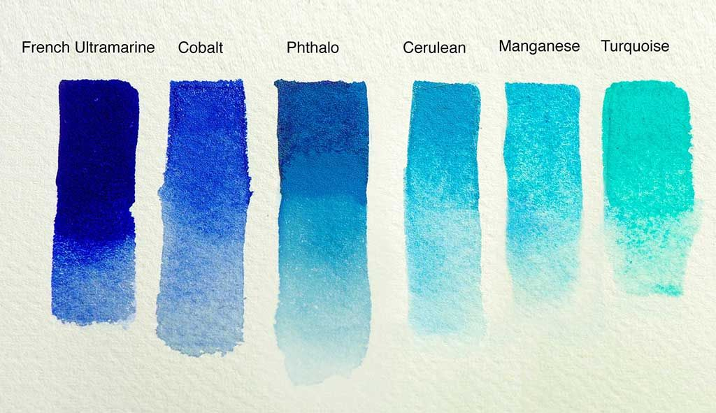 Blue Watercolor Blue Watercolor John Lovett Turquoise Watercolor