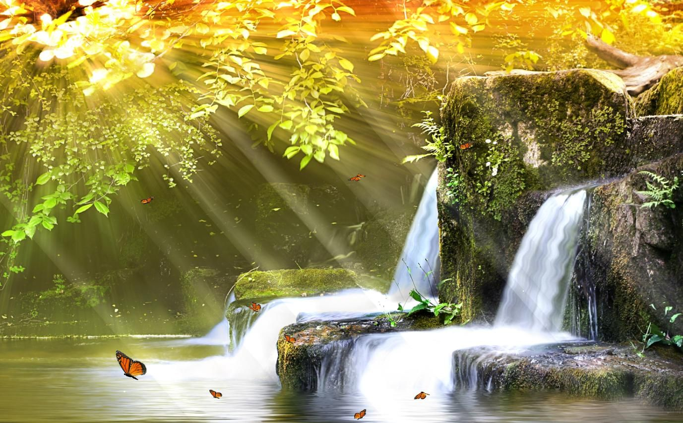 Animated 3d screensaver waterfalls free screensavers for - Nature wallpaper free download windows 7 ...