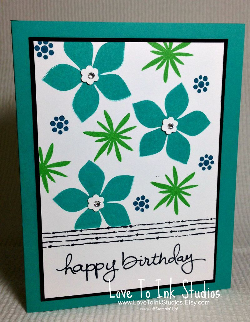 Birthday greeting card flower birthday blue and green flowers mother birthday greeting card flower birthday blue and green flowers mother daughter sister aunt grandmother fresh and fun card izmirmasajfo Images
